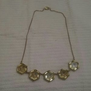 J. Crew hexagon crystals necklace
